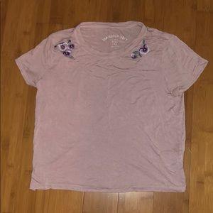 Medium soft cropped tee shirt from Aeropostale
